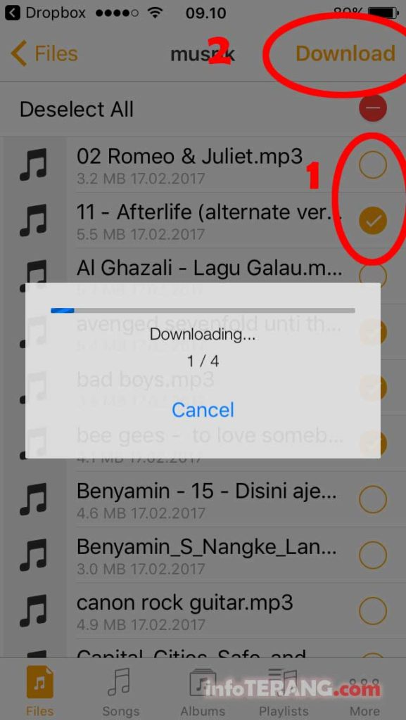 download mp3 dari dropbox ke MusiCloud