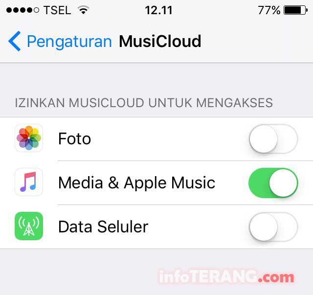 pengaturan-musicloud