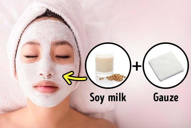 masker dari susu kedelai